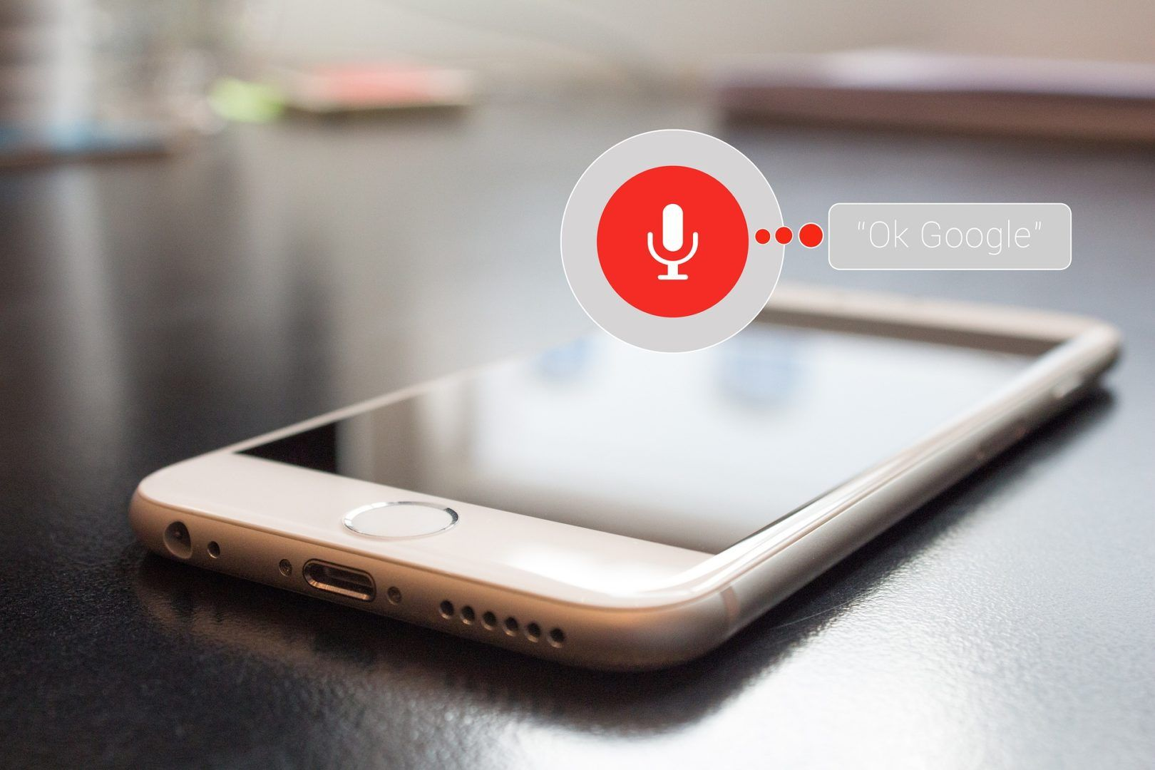 voice search picture of a mobile using Google Home