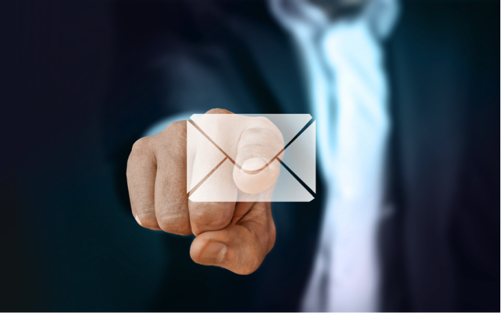 email marketing tips image of local businessman using email